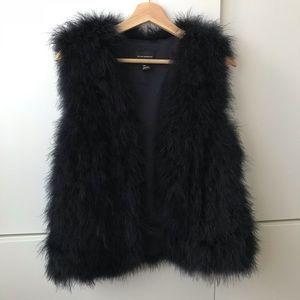 Club Monaco Dark Navy Feather Vest Size S